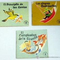 Libros de segunda mano: 3 CUENTOS PUCHI JAIMES EL PRINCIPITO GENIOS LOS ALEGRES DUENDECILLOS CUMPLEAÑOS SIRENITA 1964. Lote 244534830