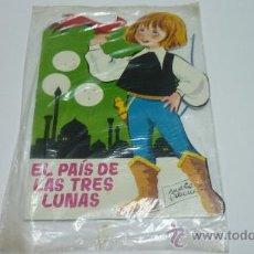 Libros de segunda mano: EL PAIS DE LAS TRES LUNAS. TORAY. MARIA PASCUAL. CON BANDERIN DE REGALO. ORIGINAL. 1963. Lote 29666156