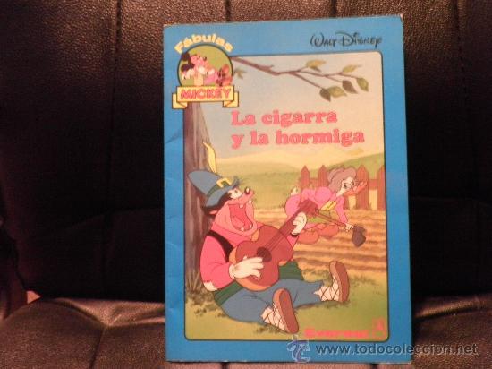 FABULAS MICKEY, LA CIGARRA Y LA HORMIGA (Libros de Segunda Mano - Literatura Infantil y Juvenil - Cuentos)