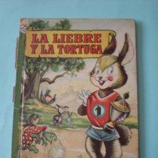 Libros de segunda mano: CUENTO INFANTIL, LA LIEBRE Y LA TORTUGA. COLECCIÓN PARA LA INFANCIA. EDITORIAL BRUGUERA, 1959. Lote 30754955