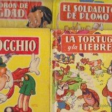 Libros de segunda mano: EL LADRON DE BAGDAD.-LA TORTUGA Y LA LIEBRE -EL SODADITO DE PLOMO Y PINOCHO. Lote 31633963