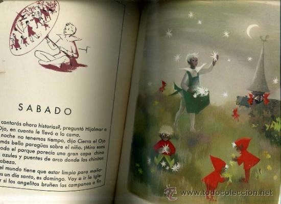 Libros de segunda mano: ANDERSEN : CIERRA EL OJO / EL PEQUEÑO ELFO -ILUSTRADO POR IDE (DESCLÉE, 1954) GRAN FORMATO - Foto 3 - 31633272