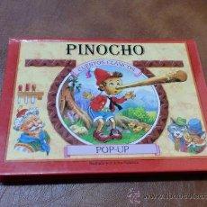 Libros de segunda mano: LIBRO.POP-UP PINOCHO.- ILUSTRADO POR JOHN PATIENCE MIDE 20X15 CENTIMETROS.-. Lote 78201267