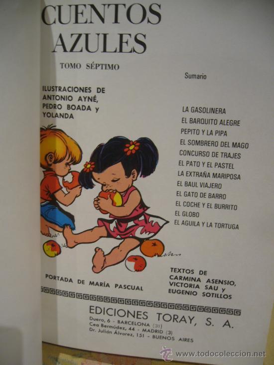 Libros de segunda mano: CUENTOS AZULES. TOMO 7. TORAY 1.978. - Foto 2 - 33294709