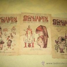 Libros de segunda mano: LOTE DE TRES REVISTAS BENJAMIN 1958 . Lote 33553813