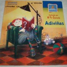 Libros de segunda mano: ADIVIÑAS (LIBRO DE ADIVINANZAS 4ª EDICION EN GALLEGO). Lote 34583661