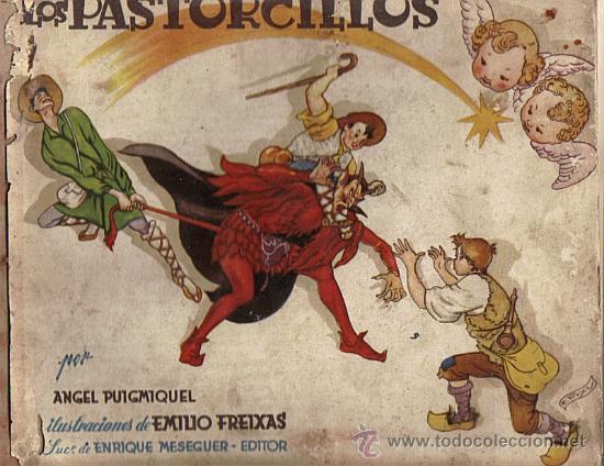 LOS PASTORCILLOS-ANGEL PUIGMIQUEL/IL.EMILIO FREIXAS AÑO 1951 (VER DETALLE) (Libros de Segunda Mano - Literatura Infantil y Juvenil - Cuentos)