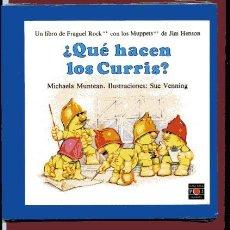 Libros de segunda mano: QUÉ HACEN LOS CURRIES LIBRO DE FRAGUEL ROCK ILUSTRACIONES SUE VENNING 20,5X 20,5 CM. Lote 96057951