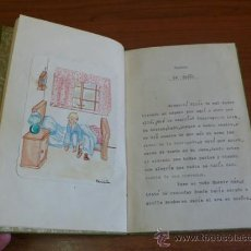 Libros de segunda mano: CUENTO, UN SUEÑO, POR SARA BOFILL. MECANOESCRITO, ILUSTRACIONES ORIGINALES Y DEDICADO. 1949.. Lote 37586859