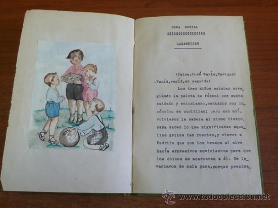 Libros de segunda mano: LAGARTIJAS, CUENTO DE SARA BOFILL. MECANOESCRITO, ILUSTRACIONES ORIGINALES Y DEDICADO. 1949. - Foto 4 - 37586761
