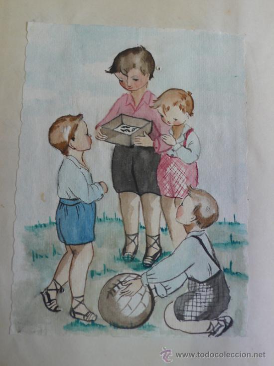 Libros de segunda mano: LAGARTIJAS, CUENTO DE SARA BOFILL. MECANOESCRITO, ILUSTRACIONES ORIGINALES Y DEDICADO. 1949. - Foto 5 - 37586761