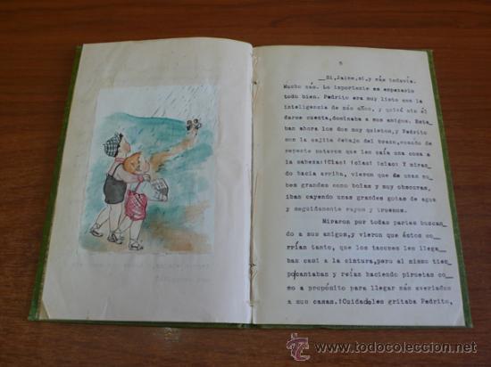 Libros de segunda mano: LAGARTIJAS, CUENTO DE SARA BOFILL. MECANOESCRITO, ILUSTRACIONES ORIGINALES Y DEDICADO. 1949. - Foto 6 - 37586761