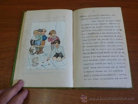 Libros de segunda mano: LAGARTIJAS, CUENTO DE SARA BOFILL. MECANOESCRITO, ILUSTRACIONES ORIGINALES Y DEDICADO. 1949. - Foto 7 - 37586761