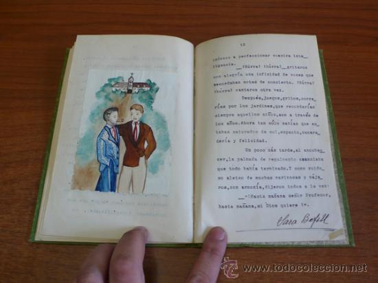 Libros de segunda mano: LAGARTIJAS, CUENTO DE SARA BOFILL. MECANOESCRITO, ILUSTRACIONES ORIGINALES Y DEDICADO. 1949. - Foto 8 - 37586761