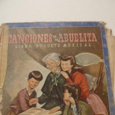 Libros de segunda mano: CANCIONES DE LA ABUELITA. CUENTO JUGUETE MUSICAL. J. MALLORQUÍ . XILOFON. MOLINO .1946. PARTITURAS. Lote 37822317