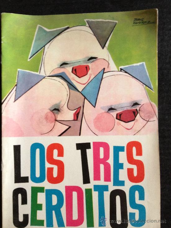 LOS TRES CERDITOS - NUEVOS CUENTOS MOLINO - ILUSTRACIONES PABLO RAMIREZ - 1961 (Libros de Segunda Mano - Literatura Infantil y Juvenil - Cuentos)