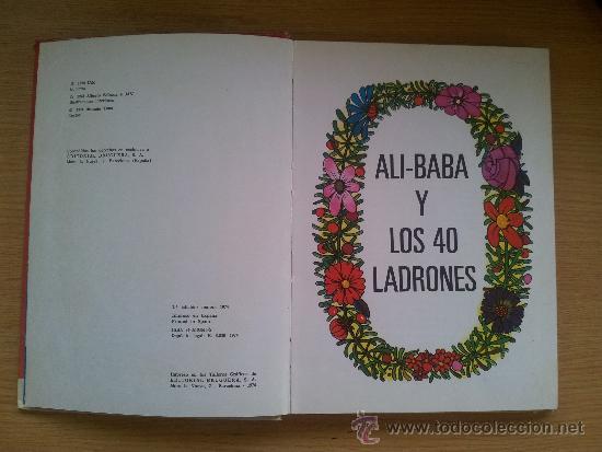 Libros de segunda mano: ALI BABA Y LOS CUARENTA LADRONES. COLECCION DIN DAN. 1974. EDITORIAL BRUGUERA S.A. - Foto 2 - 38193820