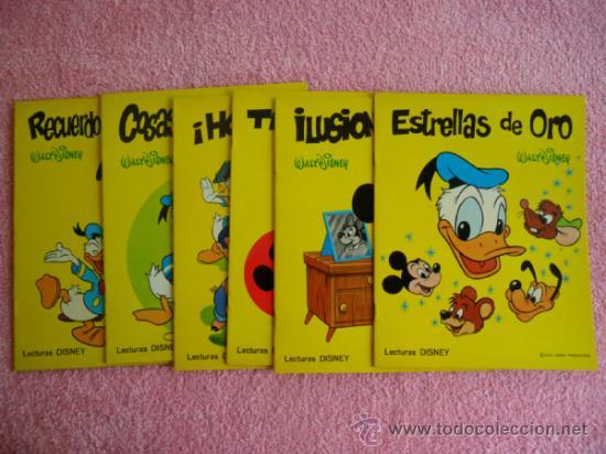 LECTURAS DISNEY EDITORIAL SUSAETA 1972 COLECCIÓN COMPLETA WALT DISNEY 6 EJEMPLARES CON 68 CUENTOS (Libros de Segunda Mano - Literatura Infantil y Juvenil - Cuentos)