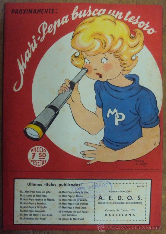 Libros de segunda mano: COSAS DE MARI PEPA Nº 49. COMPLETO CON RECORTABLES. AÑO 1956. MARIA CLARET Y EMILIA COTARELO - Foto 2 - 38319142