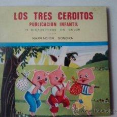 Libros de segunda mano: -LOS TRES CERDITOS - PUBLICACION INFANTIL SONORA CON 15 DIAPOSITIVAS -1967. Lote 222603828