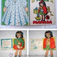 Libros de segunda mano: EL PREMIO DE MARISA. LIBRO MUÑECO. CORRAL LEONOR DEL (TEXTO), BLASCO PILI (ILUSTRACIONES) 1944. Lote 38881322