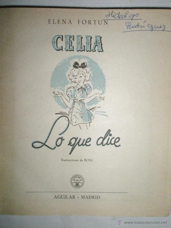 Libros de segunda mano: Fortún, E.: Celia lo que dice (1957) - Foto 3 - 39455487