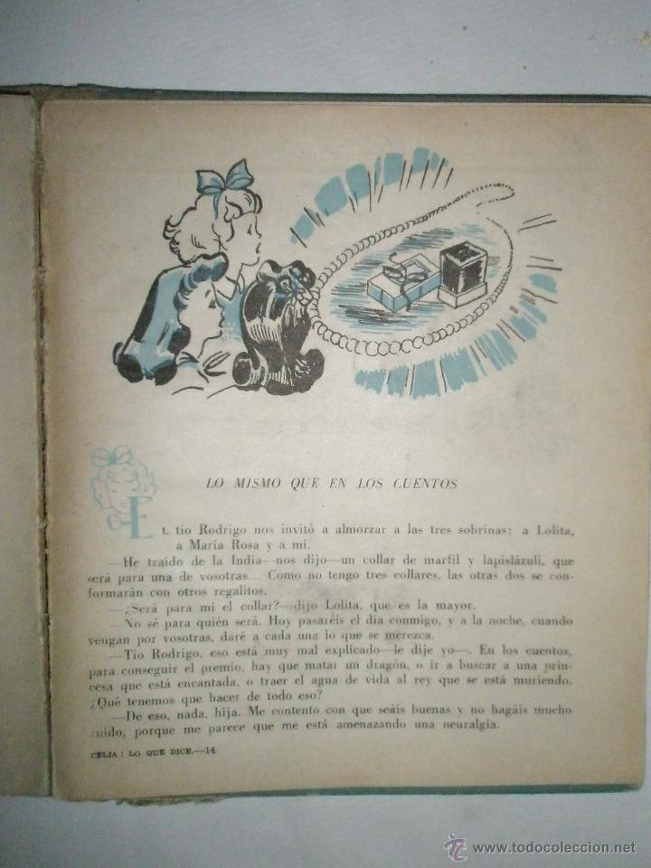Libros de segunda mano: Fortún, E.: Celia lo que dice (1957) - Foto 6 - 39455487