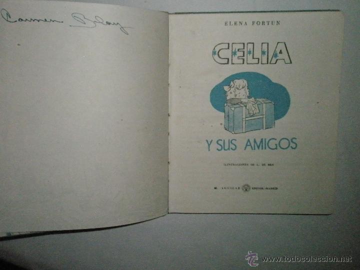 Libros de segunda mano: Fortún, E.: Celia y sus amigos - Foto 3 - 39455593