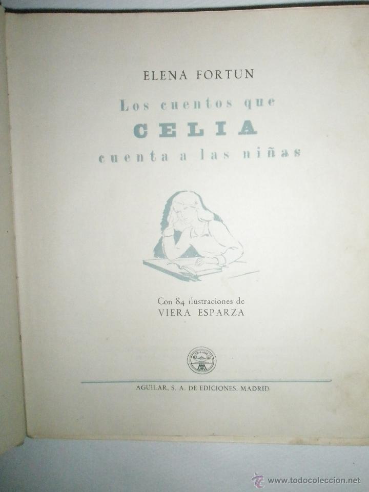 Libros de segunda mano: Fortún, E.: Los cuentos que Celia cuenta a las niñas. (1950) - Foto 3 - 39455639