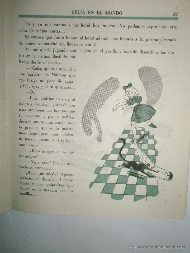 Libros de segunda mano: Fortún, E.: Celia en el mundo. - Foto 3 - 39455697