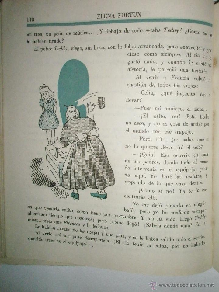 Libros de segunda mano: Fortún, E.: Celia en el mundo. - Foto 4 - 39455697