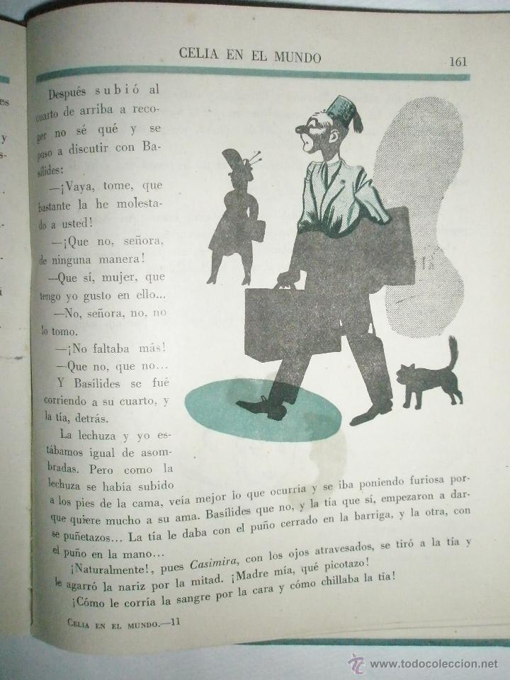 Libros de segunda mano: Fortún, E.: Celia en el mundo. - Foto 6 - 39455697