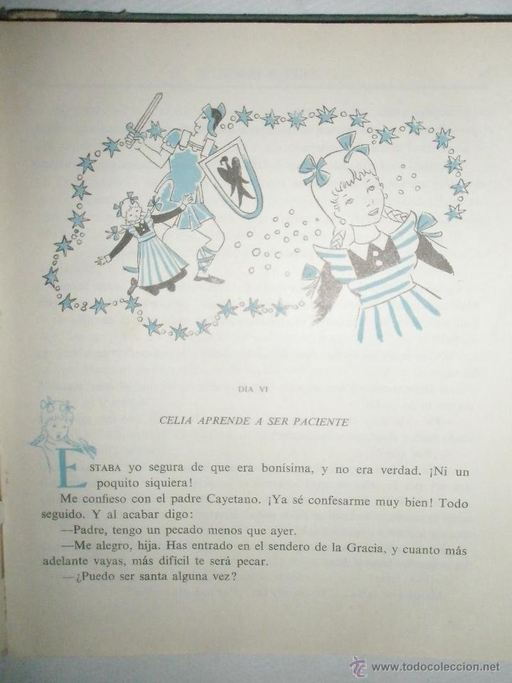 Libros de segunda mano: Fortún, E,: El cuaderno de Celia.(Primera Comunión). (1961) - Foto 4 - 39455752