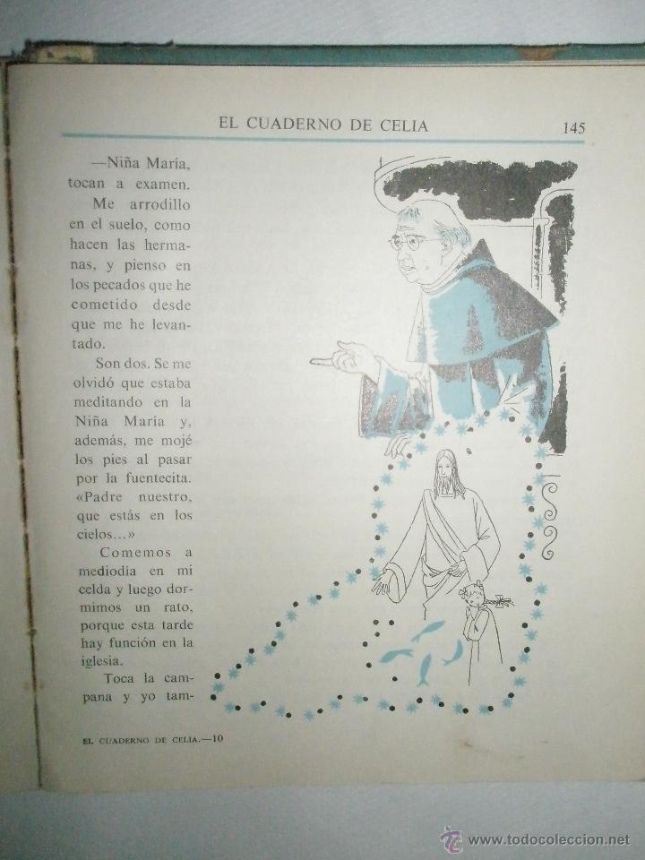 Libros de segunda mano: Fortún, E,: El cuaderno de Celia.(Primera Comunión). (1961) - Foto 6 - 39455752