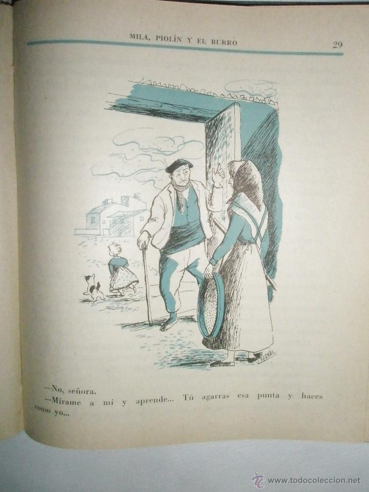 Libros de segunda mano: Fortún, E.: Mila, Piolín y el Burro (1955) - Foto 5 - 39455944
