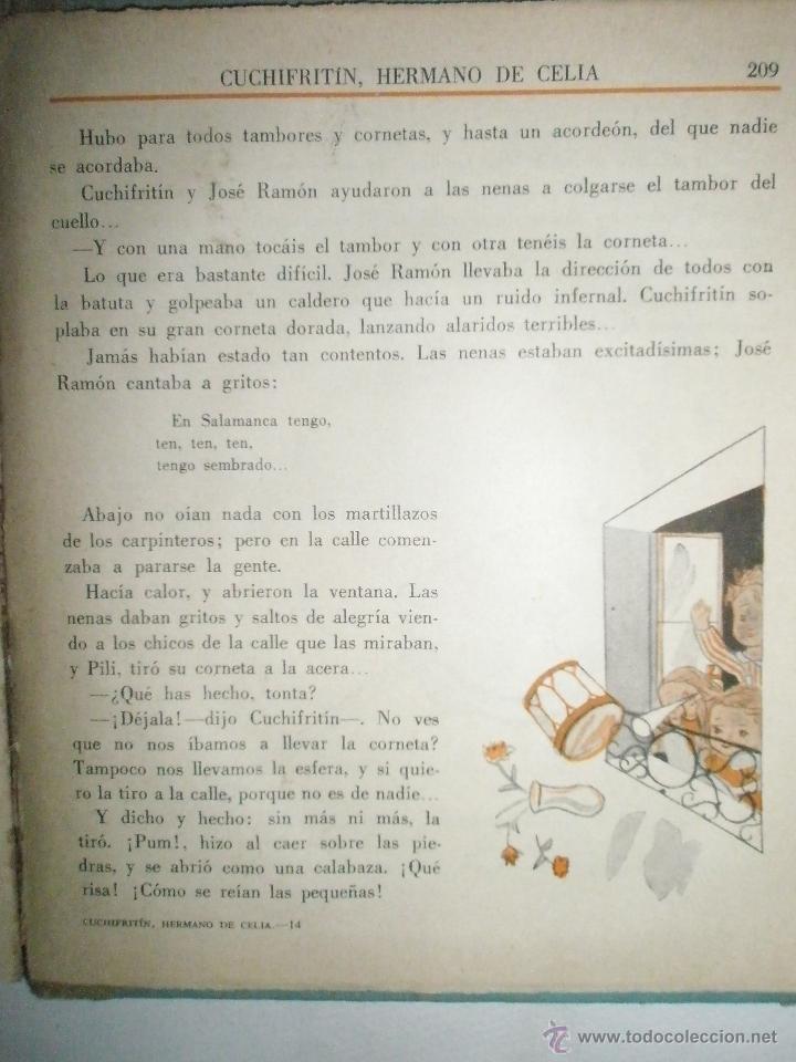 Libros de segunda mano: Fortún, E.: Cuchifritín, hermano de Celia. (1957) - Foto 10 - 39455218