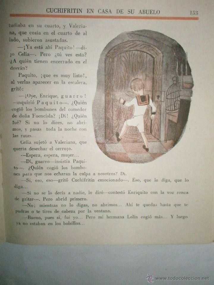 Libros de segunda mano: Fortún, E.: Cuchifritín, en casa de su abuelo. (1957) - Foto 6 - 39455350