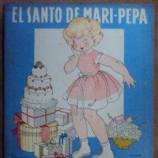 Libros de segunda mano: EL SANTO DE MARI PEPA Nº 36. COMPLETO CON RECORTABLES. AÑO 1951. MARIA CLARET Y EMILIA COTARELO. Lote 39501854