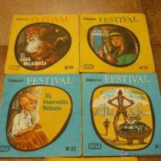 Libros de segunda mano: 5 CUENTOS COLECCION FESTIVAL BOGA -Nº S SEGUN FOTOS --AÑO 1970. Lote 40085433
