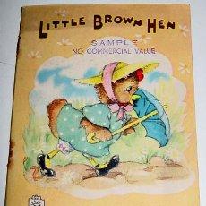 Libros de segunda mano: ANTIGUO CUENTO INGLES DE LITTLE BROWN HEN - PICTURED BY VIOLET M. WILLIAMS - PICTURED BY DINAH - RAP. Lote 38241212