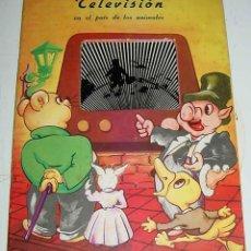 Libros de segunda mano: ANTIGUO CUENTO POP UP BOOK, DIORAMA, SOMBRA CHINESCA, TELEVISION EN EL PAIS DE LOS ANIMALES . EDITOR. Lote 38257340