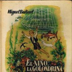 Libros de segunda mano: EL NIÑO LA GOLONDRINA Y EL GATO - 1959 - 1ª EDICIÓN - MIGUEL BUÑUEL - ILUSTRADO - FOTO ADICIONAL. Lote 40629919