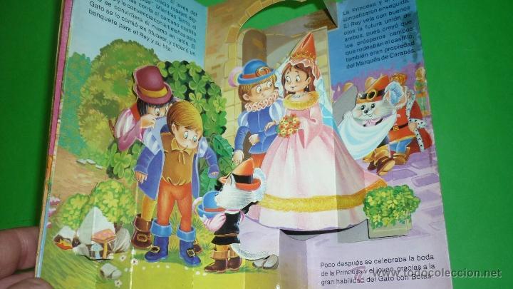 Libros de segunda mano: EL GATO CON BOTAS. Troquelado POP-UP o diorama. Ed. Saldaña. Año 1984 - Foto 3 - 41094231