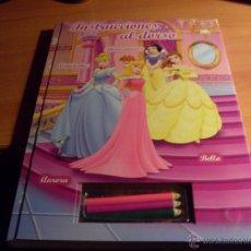 Libros de segunda mano: PRINCESAS. LIBRO DE PLANTILLAS CON PEGATINAS (LB5). Lote 41464299