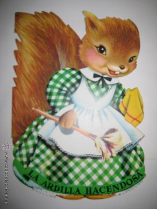 CUENTO TROQUELADO - LA ARDILLA HACENDOSA - FERRANDIZ - EDIGRAF - Nº 33, AÑO 1981 (Libros de Segunda Mano - Literatura Infantil y Juvenil - Cuentos)