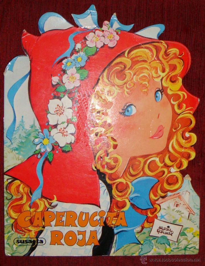 CUENTO TROQUELADO GRANDE CAPERUCITA ROJA DIBUJOS MARÍA PASCUAL SUSAETA 1987 (Libros de Segunda Mano - Literatura Infantil y Juvenil - Cuentos)