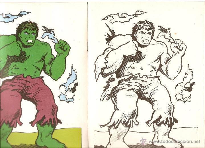 El Increible Hulk La Masa Nº 8 Cuaderno Para Colorear Sin Uso Publicaciones Laida 1981