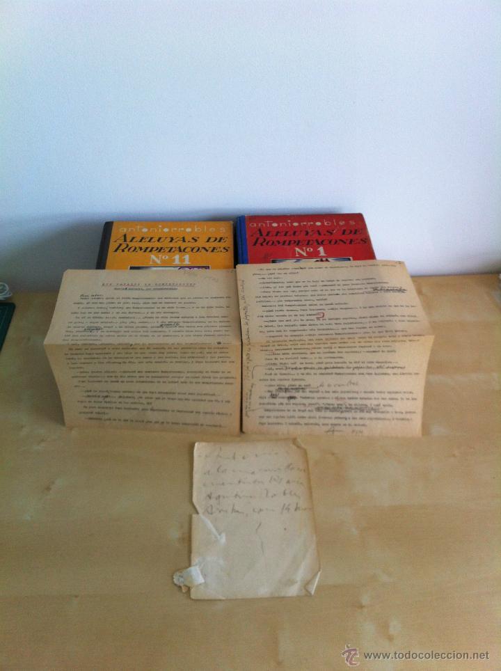 Libros de segunda mano: ALELUYAS DE ROMPETACONES. 1939. INCLUYE CUENTO INÉDITO, CORRECIONES Y DEDICATORIA DE ANTONIORROBLES. - Foto 8 - 42799560