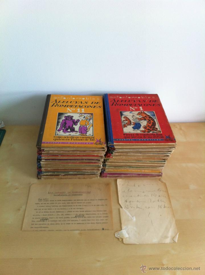 Libros de segunda mano: ALELUYAS DE ROMPETACONES. 1939. INCLUYE CUENTO INÉDITO, CORRECIONES Y DEDICATORIA DE ANTONIORROBLES. - Foto 9 - 42799560