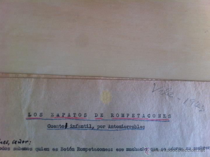 Libros de segunda mano: ALELUYAS DE ROMPETACONES. 1939. INCLUYE CUENTO INÉDITO, CORRECIONES Y DEDICATORIA DE ANTONIORROBLES. - Foto 11 - 42799560